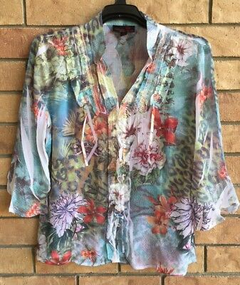 SEVEN SISTERS Size 3 Gorgeous Floral TOP...Like New