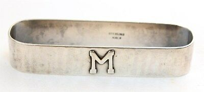 Hand Wrought Sterling Kalo Arts & Crafts Napkin Ring Applied M Mono