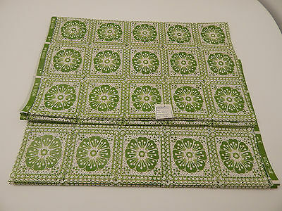 Vintage Green Floral Shelf Liner - Eatons - Approx. 10' Total - 2 Yards New