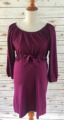 Motherhood Maternity Womens Sweater Size Large L Maroon Red Solid Soft