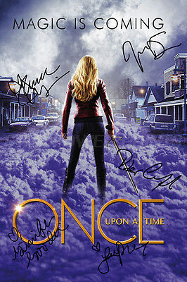 Once Upon A Time Cast Pre-Signed Photo Print Poster - 12 X 8 Inch  A+ Quality