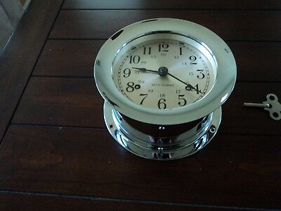Seth Thomas Nickel Plated Ships Bell Clock