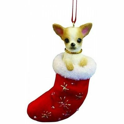 Chihuahua Tan Santa's Little Pals Dog Christmas Ornament