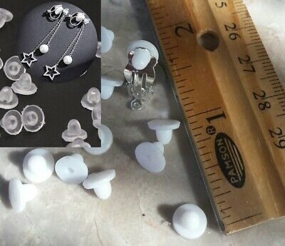 """Rubber Clip On Earring Super Soft Silicone Cushion Pads 6x5mm (.20"""" x .25"""")"""