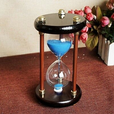 Exquisite Creative Round Wooden European Style Hourglass a7029