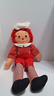 Vintage Raggedy Andy 24 inches handmade red polka dot shirt w/ red pants