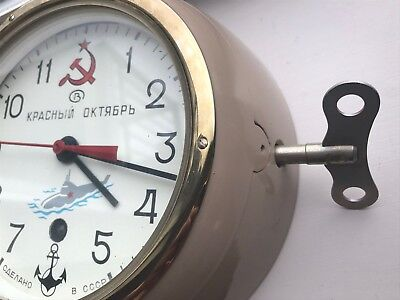 Wingding Key ONLY Russian Navy -Vintage-  Submarine Clock