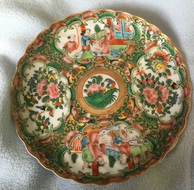 Antique Chinese porcelain Famille Rose Dish -  Era Early 1900's