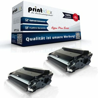 2x Compatible Printer Toner for Brother Tn-3480 Replacement Patrone-Office