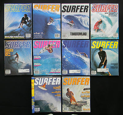 Surfer Magazine 2000 Used Lot Of 11 Issues Vol.41   Surfing Longboarding