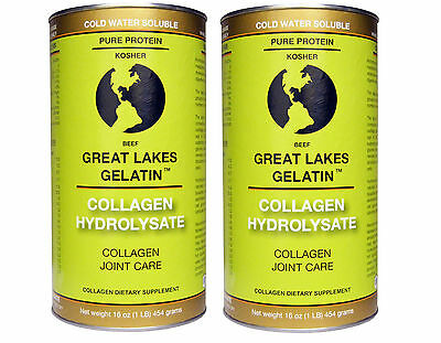 2 x Great Lakes Gelatin Co Collagen Hydrolysate Collagen Joint Care, Beef 454g