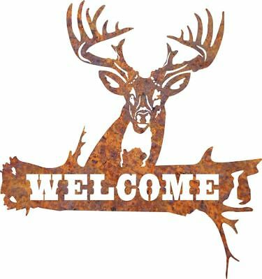 DXF CNC dxf for Plasma Router Clip Art Vector Deer Log Welcome 1 Man Cave