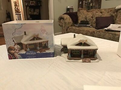 Department 56 Frozen Wandering Oakens Trading Post used with original box