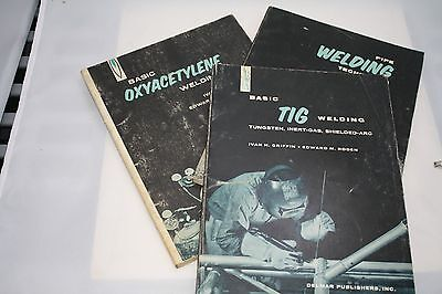 3 Welding manuals Pipe, Oxyacetylene and TIG from the 1960s