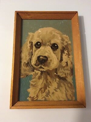 Paint By Numbers Dog Cocker Spaniel  Vintage