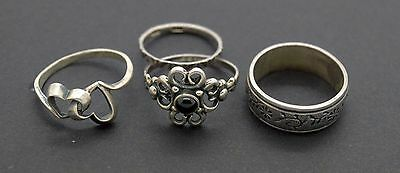 Post medieval Viking Jewelry Silver 825 Rings total weight 10 gr. 19 Century