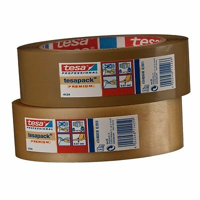 ( eur. 0,04 / m-eur 0,06/M) Tesa Tape Packing 4124 top-pvc 38mm x 66m Brown