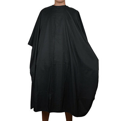 Black Pro Salon Hair Hairdressing Hairdresser Cutting Gown Barber Cape Cloth