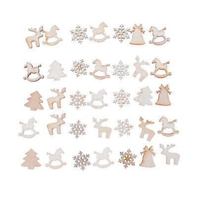 30Pcs DIY Handwerk Christmas Wood Chip hanging Ornaments Dekoration Geschenk