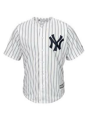 Majestic Athletic Cool Base Jersey Yankees - White Pinstripe