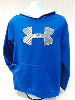 UNDER ARMOUR STORM LOOSE Men's Small Pullover Blue Hoodie