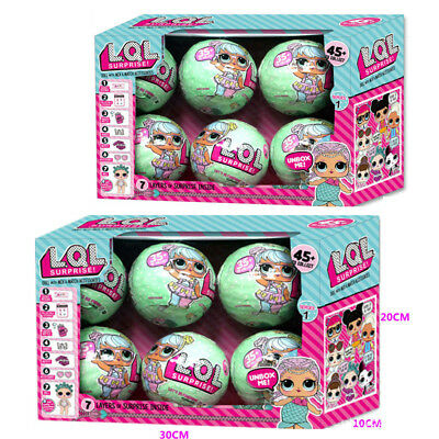 6 PCS  Outrageous 7 Layers Surprise Ball Series 1 Doll Blind Mystery Toys