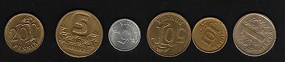 Finland set of 1970-1980's coinage