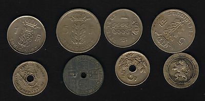 Beligum set of 1862-1980's coinage