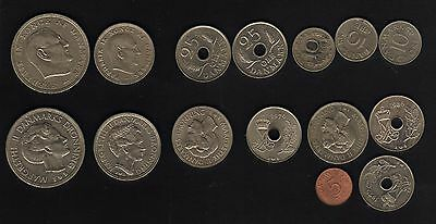 Denmark 2 Monarchs set of 1970-1980's coinage