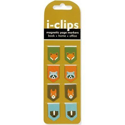 Woodland Friends i-clip Magnetic Page Markers Set of 8 Magnetic Bookmarks