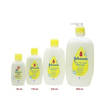 Johnson's Baby Top to toe Baby Wash Tear Free Bath 50ml to 500ml Baby Care