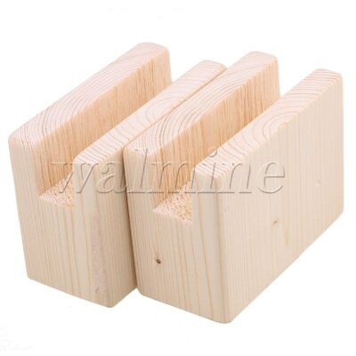"""2Piece 2"""" Lift Height Furniture Table Lifter Bed Riser 2x10CM Groove"""