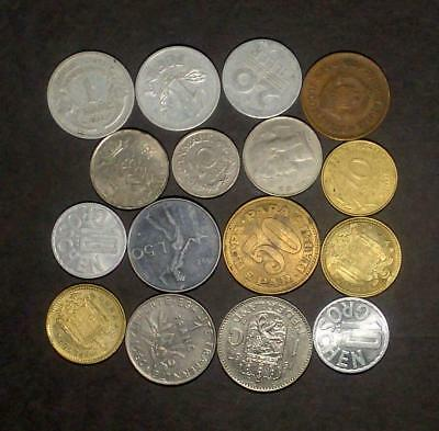 Small selection of coins from European countries (60g)