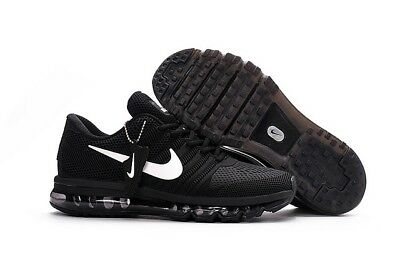 NIKE AIR MAX 2017 Men's Running Trainers ShoesBlack and white