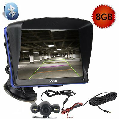 "NEW  8GB 7""GPS Navigation Reverse Rear View Camera AV-IN Bluetooth 256MB RAM FM"