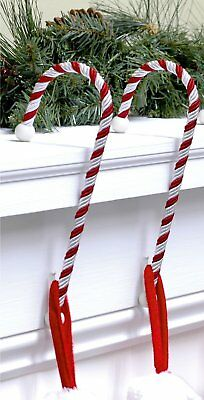 Christmas Xmas Candy Cane Stocking Holders Supports Mantel Clips Holder