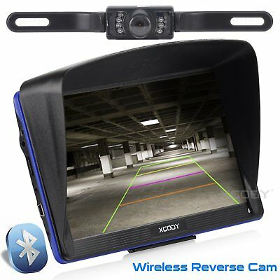 7'' XGODY GPS Navigator Bluetooth Sat Nav+Wireless Reverse Camera Free AU+EU Map
