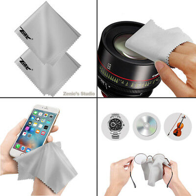 10 PACK Microfiber Soft Cleaning Cloths For Camera Lens Glasses TV Phone Screen