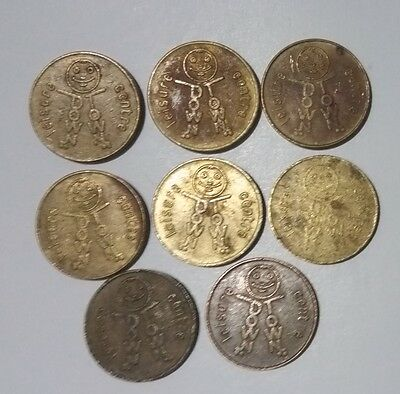 8 x old Adelaide tokens Downtown Leisure / Magic Mountain arcade gaming S.A.