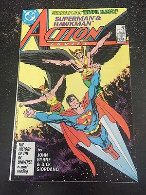 Action Comics#588 Incredible Condition 9.0 Hawkman, Byrne Art, Wow!!
