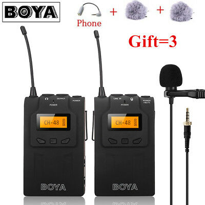 BOYA BY-WM6 UHF Lavalier Microphone Ultra High Frequency For camera camcorders