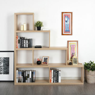 Wooden Storage Unit 6 Cubes Strong Bookcase Shelving Home Office Display