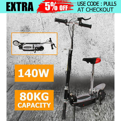Electric Scooter 140W Adjustable Foldable for Adults/Kids with Seat Xmas Gift