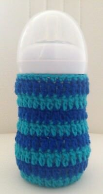 hand crochet baby bottle cover tommee tippee, avent Dr brown MAM Nuk