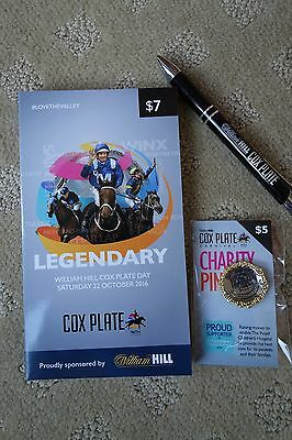 WINX 13th CONSECUTIVE WIN 2016 COX PLATE RACEBOOK+ PEN & PIN