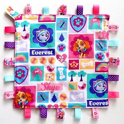 Paw Patrol skye everest Taggie Security Blanket Toy Comforter dummy clip holder