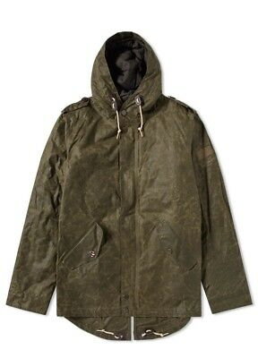 Brand New Barbour Steve McQueen Shell  Wax  Parka Jacket Olive Medium