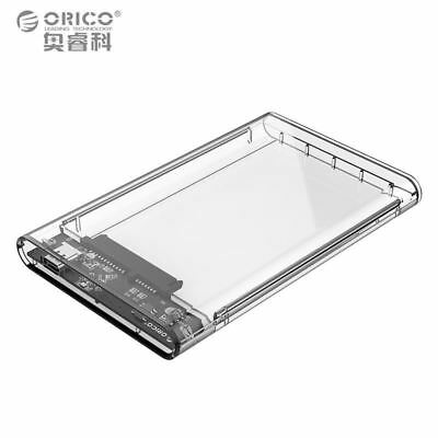 "ORICO 2139C3 USB 3.1 Type-C 2.5"" SATA Hard Disk Drive HDD Enclosure Transparent"