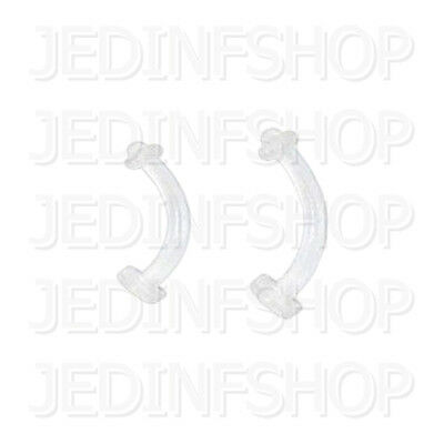 Retainer - Navel Belly Bar - 1.6mm (14g) - 8mm 10mm + O-Ring - Flexible Acrylic