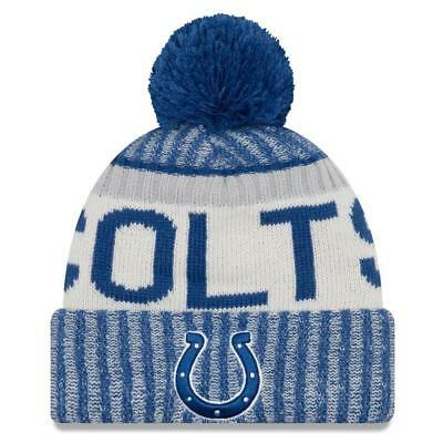 New Era NFL 2017-18 Sport Knit Sideline Fleece Lined Beanie Indianapolis Colts